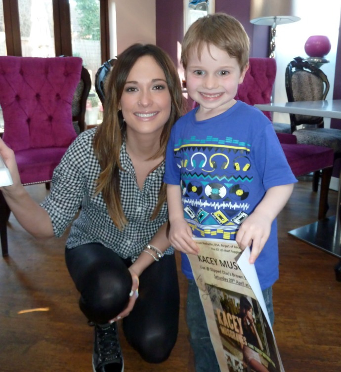 Lucas with Kacey Musgraves at Slipped Discs' Brown Sugar, Billericay – April 20th 2013