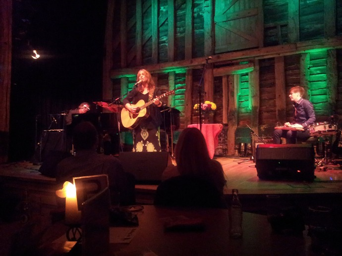 Gretchen Peters, Barry Walsh & Christine Bougie at The High Barn, Great Bardfield, Essex. June 25th 2013