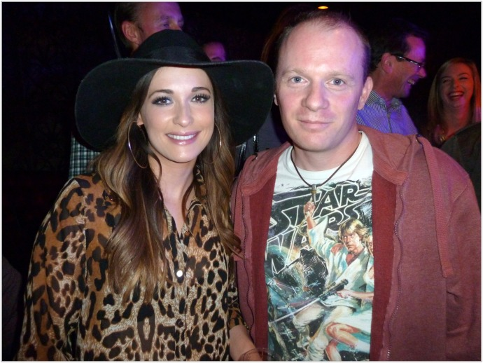 Me with Kacey Musgraves at  Her Secret Gig in London, August 13th 2013