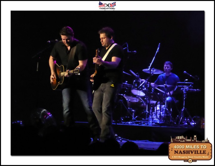 Chris Young and his Band Rocking The O2 on Sunday Night at Country 2 Country 2014