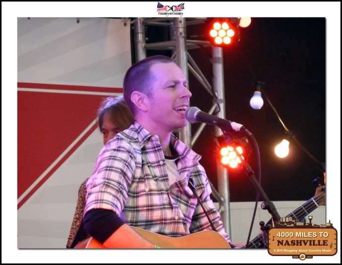 Gary Quinn Playing the Town Square Stage at Country to Country 2014