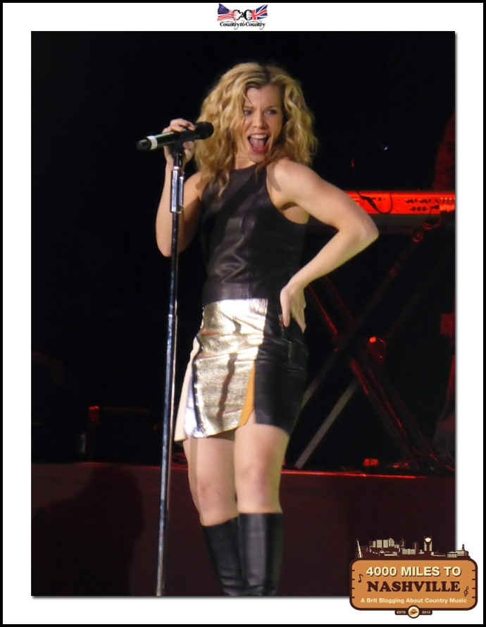 Kimberly from The Band Perry being the Consummate Show Woman for The O2 Crowds