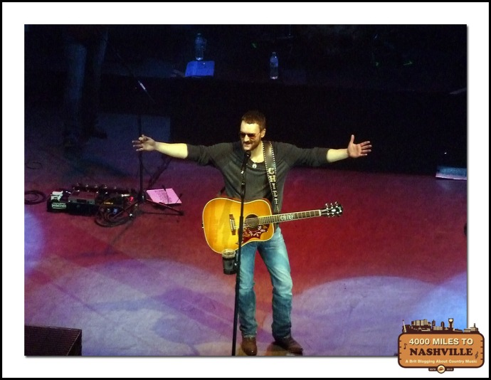 Eric Church at O2 Shepherd's Bush Empire – Sunday 2nd March 2014