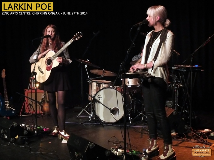 Larkin Poe at Zinc Arts Centre, Chipping Ongar - June 27th 2014