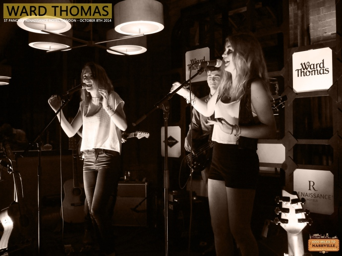 Gig Review: Ward Thomas at St Pancras Renaissance Hotel - 8th October 2014